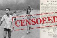Facebook cenzuruje dějiny. Po slavné nahé dívce promazal i Deklaraci nezávislosti