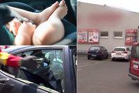 Kojenec uvězněný v rozpáleném autě: Matka byla v šoku, nedokázala otevřít
