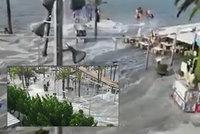 Velká vlna zaplavila dovolenkové ráje. Turisté na Mallorce a Menorce ji natočili