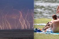 Na severu slunce, na jihu bouřky. Nedělní počasí rozdělí Česko, sledujte radar