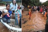 Protrhla se přehrada, stovky pohřešovaných a mnoho mrtvých. Katastrofa zasáhla Laos