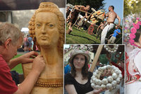 Tipy na víkend: Anenské poutě, řezbáři na Křivoklátě, slavnosti česneku i klání Keltů