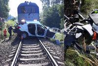 Vůz vjel na českobudějovickém přejezdu pod rychlík, řidič zemřel