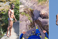 Zvládl už i 58,8 metru. Na Příbramsku skáče do vody i světový rekordman Laso Schaller