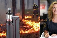 Ani E-cigarety nepomohly. Požárů od nedopalků neubývá, hasička hrozí pokutami