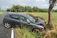 Řidička se vybourala na Plzeňsku: Narazila přímo do stromu
