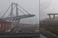 ONLINE Až desítky mrtvých při zhroucení mostu v Itálii. Auta padala na domy