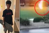 Blesk zasáhl chlapce (13). Probudil se po třech dnech, život mu zachránil skateboard