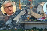 """Brusel vrací úder Italům: """"Peníze na opravu mostu jste dostali."""" Kam zmizely?"""