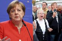 """""""Muslimové i Židé do Německa patří."""" Merkelová chápe vztek lidí, násilí ale odmítá"""