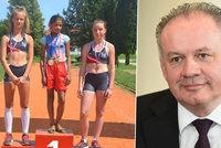 Romská holčička vyhrála běh v balerínách a dojala Kisku. Přivezl jí dárek