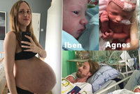 Maria (36) dokumentovala těhotenství týden po týdnu: Konečně porodila trojčata