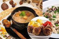 Houby na talíři! Česnečka, karbanátky i rizoto
