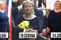 42397faed7f7 Skromný šatník Ivany Zemanové  První dáma nosí jedny šaty a perly stále  dokola