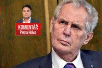 Komentář: Zeman v ráži šil do Romů, Pocheho vyžene z ministerstva. A chce bungalov