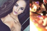 Češku Kristýnu s přítelem vážně popálili v Istanbulu. Barman nezvládl ohnivou show