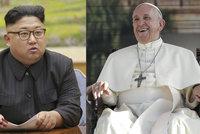 Diktátor Kim zve do KLDR papeže Františka. Vzkaz poslal po jihokorejském prezidentovi