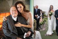 Utajená svatba Bushovy dcery: Exprezident ji vedl k oltáři, nechyběl ani Bush starší