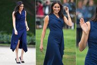 Těhotná vévodkyně Meghan: Poprvé pyšně vystavila rostoucí bříško