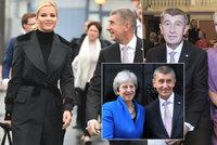 Manévry v Londýně kvůli Babišové: Premiérova žena postrádala šaty na koncert