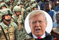 Trump vysílá na hranice tisíce vojáků kvůli migrantům. Neziskovky zuří