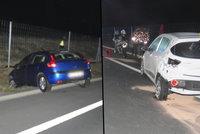 Důchodce (81) si na dálnici u Sokolova spletl směr i pedály! Způsobil hromadnou nehodu