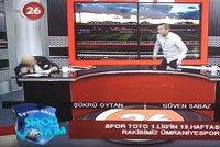 Infarkt během živého vysílání: Moderátor na televizní obrazovce zkolaboval
