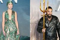 Premiéra Aquamana jako maškarní: Momoa za motorkáře, Heard za akvabelu