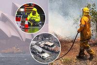 Nápor živlů: 120 zrušených letů kvůli povodním a strach z ničivých požárů v Austrálii