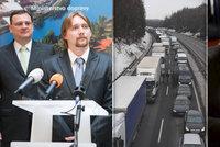 Nečasův ministr dopravy se vysmál Ťokovi kvůli sněhu na D1. Čeká omluvu i soud