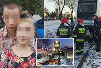Snoubence Jozefa se Sašou zabil před Vánoci vlak: Rodiny je pohřbí odděleně