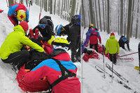 V Beskydech se těžce zranil skialpinista (37). Neměl přilbu