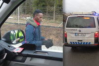 Na D1 chytli zmateného migranta: Tvrdil, že jde z Belgie do Anglie!