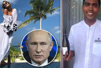 "Putinova krásná kmotřenka si užívala na Maledivách. ""Černý otrok"" byl už ale moc"
