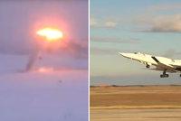 Muž natáčel přistání ruského bombardéru: Letoun se rozlomil a explodoval