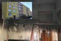 Obří požár v centru Sokolova: V centru hořel panelák, hasiči evakuovali nájemníky!