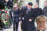 Utajený pohřeb princezny Lady Marie Kyselkové (†83): Kolegové nepřišli! Záhadný nápis na věnci