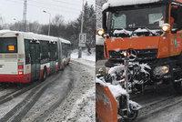 Čechy pod sněhem: Lidé bez proudu, kolaps na silnicích, zborcená hala. Sněžení se sune na Moravu