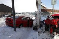 Řidič na Českokrumlovsku naboural do rodinného domu: S vážnými zraněními jej transportoval vrtulník