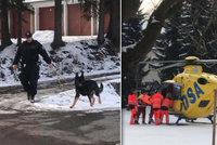 V České Třebové někdo vážně pobodal důchodce (78): Pachatel je na útěku, hledají ho i psovodi