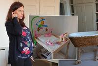 Jermanová má postýlku i v kanceláři, porodit může každým dnem. S dcerkou zůstane manžel