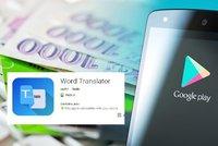 Aplikace v obchodě Googlu se snaží okrást i Čechy. Spadeno má na bankovní účty