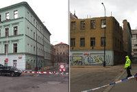 Památkově chráněný dům v Praze 1 je v havarijním stavu: Hrozí zřícení dalších částí, stavaři ho zabezpečují