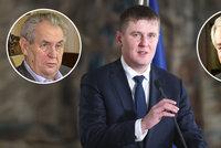 """Zeman vytkl Petříčkovi """"gesto vydírání"""". Filip hanil ministra po schůzce s Babišem"""