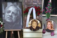 Pohřeb kameramana Stanislava Miloty (†85): Bez vdovy Chramostové! Havlová s karafiáty se vzkazem