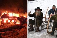 Při požáru ve Velké Úpě uhořela krkonošská legenda! Josef (†82) miloval jeleny a sbíral saně