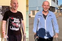 Honza Musil dva měsíce od úrazu: Konečně venku z nemocnice!