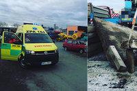 Mladého muže v Přelouči zavalil betonový panel: Rozdrtil mu celé tělo, skončil v nemocnici