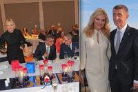 Babiš s Monikou si připil na Bílý dům. Zmínil studia dcery a uctil oběti 11. září