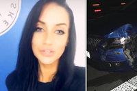 Andrea Pomeje (31) bourala na D1! O nehodě promluvila, zvláštní vzkaz poslal i její svalovec!